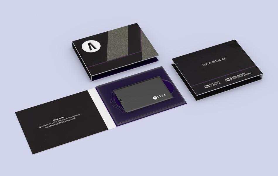 Dárkový usb booklet na usb kartu
