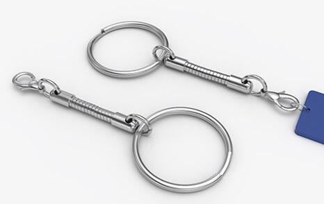 Kroužek na klíče - spirála